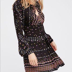 Free People Coryn Mini Black Dress